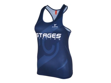 Stages Cycling Women Indoor Tank Top - Blue